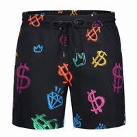 Skull شاطئ السراويل الرجال النساء الرباط السراويل الاسترخاء أوم أزياء الملابس الدولار المطبوعة رسائل الصيف الأسود كرة السلة sweatpants M-3XL