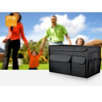 Car Organizer Trunk Box Folding Storage Bag With Two Stories For Auto Accessories Stowing Tidying Collapsible Bags