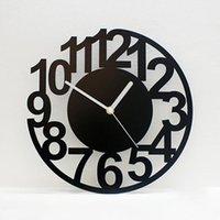 Wall Clocks Nordic Clock Fashion Living Room Silent Creative Guess Women Mechanism Modern Design Relogio Parede Secret Hiding WZH350