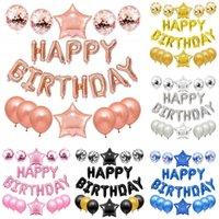 25 unids globos de látex todos para adornos de fiesta de cumpleaños cartas de decoración accesorios feliz cumpleaños globos decoración chico