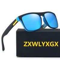 ZXWLYXGX Marka Tasarım Polarize Güneş Erkekler Kadınlar Sürücü Shades Erkek 2021 Vintage Güneş Gözlükleri Erkekler Spuare Ayna Yaz UV400