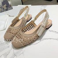 Sandalet Bahar Nefes Örme Pompaları Slingback Topuklu Ofis Elbise Ayakkabı Kadınlar Özelleştirilmiş Marka Şık Summe