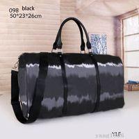 Alta qualidade sacos de bagagem de mão desenhista de luxo homens pu bolsas de couro grande bolsa de corpo grande totes 50cm