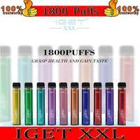 Iget XXL одноразовый POD устройства набор 1800 слойки 950 мАч 7ML предварительно заполненный Vape Pape для Bang Shion Lite Plus Max Australia оптом