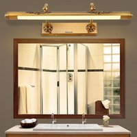 Wall Lamp Retro Vintage American European Aluminum Acryl Led Mirror For Bathroom Makeup Restroom Light 50 60 80cm 1091