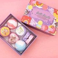 Multi Bubble Special Shaped Bath Ball Dry Flower Salt Gift Box Rose Fragrance Perfume Shower Bomb Oem