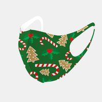 christmas Festival Mouth Cover Washable Reusable Dustproof Mask Ice Silk Cotton Protective sheild Anti-bacterial face masks