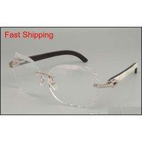 2019 новая мода высококачественные резные очки рамка 8300817 Diamond серии черный / черный цветок / смешанные очки F QYLMOI TOYS2010