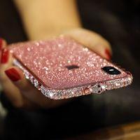Custodie telefoniche per iPhone 11Pro Max 7 x XR XSMAX 8 6 6S Plus Bling Diamond Trasparente Crystal Soft TPU Cover posteriore