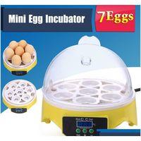 Mini 7 ägg inkubator Fjäderfä Inkubator Brower Digital Temperatur Hatchery Machine Hatcher för kyckling D Jllwes Jhhome