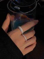 Anillo de estrellas Nicho de nicho de mujer Diseño de viento fresco Apertura dedo dedo Silver Chunky Anillos para adolescentes