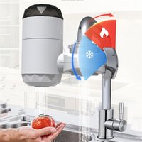 Electric Heating Faucet Instant Sink Faucets Hot-Water Heater with LCD Temperature Display For Home Bathroom Kitchen 2126 V2