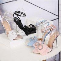Sandalet 2021 Kadın Aşırı Yüksek Topuklu Stiletto Kayış Saten Sandles Lady Gladyatör Seksi Stripper 12 cm Fetiş Ayakkabı