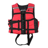 Life Vest & Buoy Professional Jacket Adult Fishing Marine Equipment Red Swimming Buoyancy For Children With Lifesaving Whistle