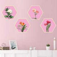 Etiquetas engomadas de la pared [Shijuehezi] Flores DIY Plantas Calcomanías para la casa Sala de estar Niños Dormitorio Niños Nursery Decoración de la cocina