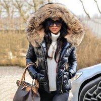 Umeko Kış Siyah Kadın Ceket Kürk Kapüşonlu Uzun Kollu Kalın Mont Kadın Fermuar Rahat Düz Renk Sıcak Ceketler Parkas Giysileri 210203