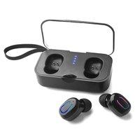 Ti8s Bluetooth 5.0 Earphones TWS Wireless Earphone In-Ear Handsfree Sports mini Earbuds headset with Mic Charging Box