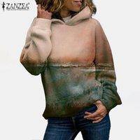 Women's Hoodies & Sweatshirts ZANZEA Autumn Long Sleeve Fashion Women Floral Printed Sweatshirt Casual Vintage Hooded Pullover Streetwear