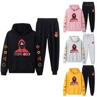 Women's Two Piece Pants Squid Game Sportswear Sets Men Women Streetwear Hip Hop Unisex Pullovers Suit Harajuku Sweatshirt Autumn Tracksuits1