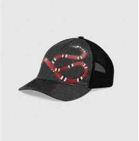 2021 مصمم رجل قبعات البيسبول ماركة النمر رئيس القبعات النحل الأفعى المطرزة العظام الرجال النساء casquette الشمس قبعة غوراس الرياضية شبكة قبعة
