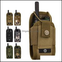 Outdoor & Outdoorsoutdoor Pouch Tactical Sports Pendant Nylon Military Molle Radio Walkie Talkie Fashion Portable Magazine Bag Bags Drop Del