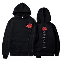 Herren Hoodies Sweatshirts Japanische Anime Akatsuki Hoodie Männer Frauen Cloud Symbol Drucken Streetwear Pullover übergroß