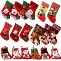 DHL быстрые рождественские чулки Санта снеговик подарок держатели хранения сумка кулон домашний декор Новый год новогодние носки орнамент рождественские украшения дерева оптом