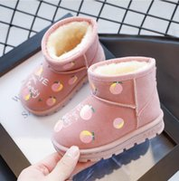 Boots Fashion Children Winter Baby Boys Girls Leather Snow Boot Kids Super Warm With Plush Shoes