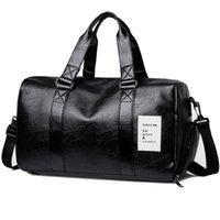 Duffel Bags 2021 Autumn Men Travel Bag Hand Luggage Vintage Black Red Pu Leather Waterproof Portable Women Duffle