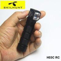 Skilhunt H03C RC 18650 Magnético Recarregável Cabeça de Camping Lâmpada RGBW Cree LED Capacete Farol com Headband Gratis