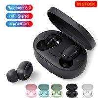 A6S TWS Bluetooth Kablosuz Kulaklıklar Kablosuz Kulaklıklar 5.0 TWS Kulaklık Gürültü Iptal Eding Mic Için Mic Iphone Huawei Samsung