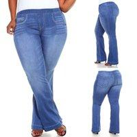 كبيرة الحجم 6xl إمرأة امتدت عالية الخصر جينز المرأة بانت الكلاسيكية الجينز الإناث الشتاء زائد حجم فام نحيل الأزرق الجينز D25