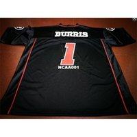 Billig 001 Ottawa Redblacks # 1 Henry Burris Black College Jersey oder benutzerdefinierte JEDE NAME ODER NUMMER JERSEY