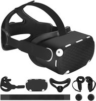 Accessories 6-in-1 for Oculus Quest 2, Head Strap Replacement Kits, VR Front Cap,Controller Cover,Face Pad, Reduce Face Pressure Comfortable Touch, Family Holiday Bundle