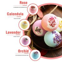 Bubble Bath Bomb Dry Flower Explosion Natural Floral Essential Oils Bathbombs Fizzers Shower Steamers Bathing Deep see Salt Ball GWF10069