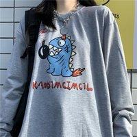 Women's Hoodies & Sweatshirts Cute Harajuku Cartoon Sweatshirt Women Casual Autumn Hip Hop Amine Long Sleeve Pullover Loose Jumper Hoodie Fe