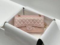 Роскошные дизайнеры CC Channel женские сумки сумки мода посланник цепь плеча Crossbody кошелек Tote дизайнер сумка высокое качество овчины 5 цветов 25см VKWS