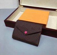 Senhoras de estilo europeu e americano clássico Três dobram a carteira de cor curta da flor da flor da flor do beanie