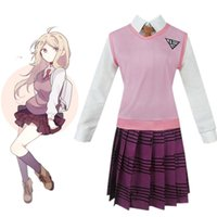 Halloween Japão Anime Akamatsu Kaede Danganronpa Cosplay Cosplay Uniforme Terno Full Set Party
