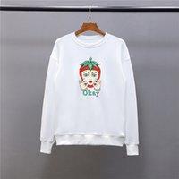 Erkekler Şık Vintage Yüksek Kalite Tişörtü Erkek Bayan Sonbahar Kış Tamam Nakış Kazak Ceket Kadınlar Pamuk Terry Ter Gömlek