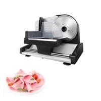 Haushalt elektrischer Slicer Lammwalzen Fleisch Scheiben Gemüse Fruchtschneidermaschine 1-15mm Einstellbare Dicke Nahrungsmittelschneidermaschine 220V