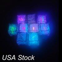 Andere Innenbeleuchtung Eis Lichter Eimer LED Cubes Glühende Party Ball Flash Licht Leuchtende Neon W Festival Weihnachtsbar Weinglas Dekoration liefert