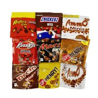 Sacchetto di plastica da snack commestibile Mylar 600 mg 5 * 5 pollici sacchetti di cioccolato al cioccolato stand up packaging