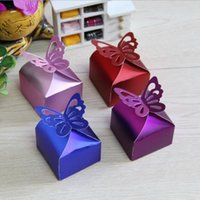 Gift Wrap 100Pcs Arrival Candy Box 250gsm Kraft Boxes For Chocolate Jewelry Red Cardboard Present Party Favor 6x6x6.5cm