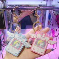 Unicorn Notepad Keychains Cartoon Cute Fly Unicorns Notebook Car Key Chain Girl Bag Pendant Keyring Gifts Lovers Gift