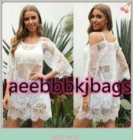 Cover-ups Bikini Cover-up Lace Gauze Beach Wear Spaghetti O Neck Tunic Dress Bath Sarong Wrap Skirt Swimsuit Cover Up Female Robe1