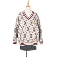 패션 분위기 강아지 그녀는 의미가있다 센스 커플 뜨개질 링기 itte 대학 수 놓은 스웨터 럭셔리