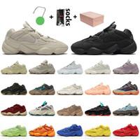 2021 رقم صندوق البريد Yeezy 500 Kanye Stock x ملمع أحذية سهير 46enflam أزرق برتقالي أحمر الخدود أسود ناعم عمليّة رؤية الأحذية الرياضية
