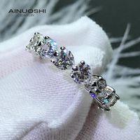 Anuoshi в форме сердца сона сона алмазное взаимодействие вечности кольца подарки для 925 стерлингового серебра женщин опекун жизни апертурные кольца