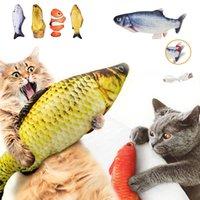 Brinquedo elétrico peixes carregador USB interativo realista animal de estimação gatos mastigar brinquedos de mordida Floppy peixe gato brinquedo pet suprimentos para gwd5298